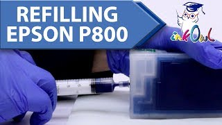 How to Install Refillable Cartridges (Refill) on Epson SureColor P800