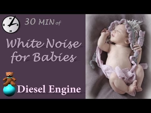 Baby White noise for babies - Diesel engine, play this video as a fast fall asleep aid