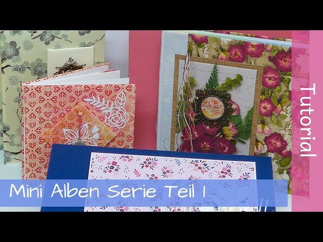 Mini Album Tutorial Series Part 1 - One Page Album - Stampin' Up! - YouTube