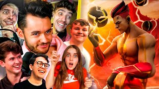 YOUTUBERS REACCIONAN A MI SKIN DE FORTNITE - TheGrefg