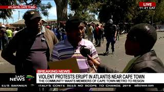 Violent protests erupt in Atlantis near Cape Town