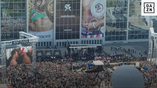 A Drone View of the Canelo vs. Saunders Weigh-In