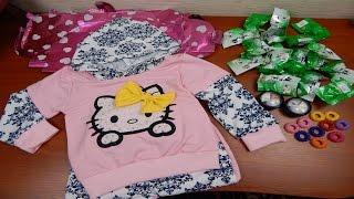Посылки из Китая: Чай,Детский костюм,Тени,Резинки,Буквы