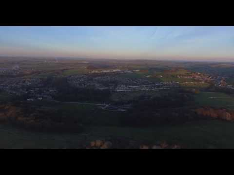 Dji Phantom 4 - Solomans Temple, Buxton, Derbyshire Areil Drone View at Sunset 25/3/2017