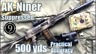 Suppressed AK Niner to 500yds: Practical Accuracy (Saiga 5.56 base rifle, Spetsnaz AK102 concept)