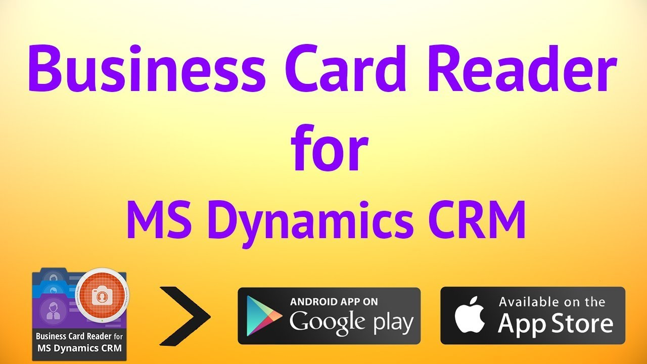 Business Card Reader for Microsoft Dynamics CRM - YouTube