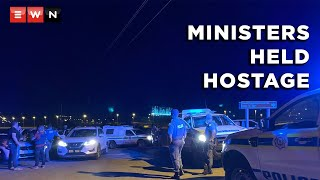 Ministers who were in a meeting with representatives of military veterans were held hostage at St. George's Hotel in Pretoria on 14 October 2021.