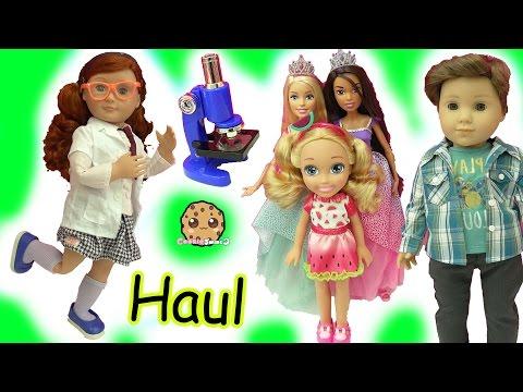 Doll Haul - Boy American Girl + Large Princess Barbie Dolls + Surprise Blind Bags
