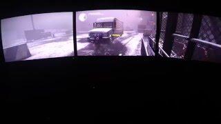 The Divison Beta Gameplay Nvidia Surround (Triple Screen PC)