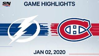 NHL Highlights   Lightning vs. Canadiens - Jan. 2, 2020