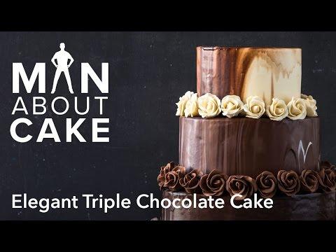 (man about) Elegant Triple Chocolate Cake   Man About Cake