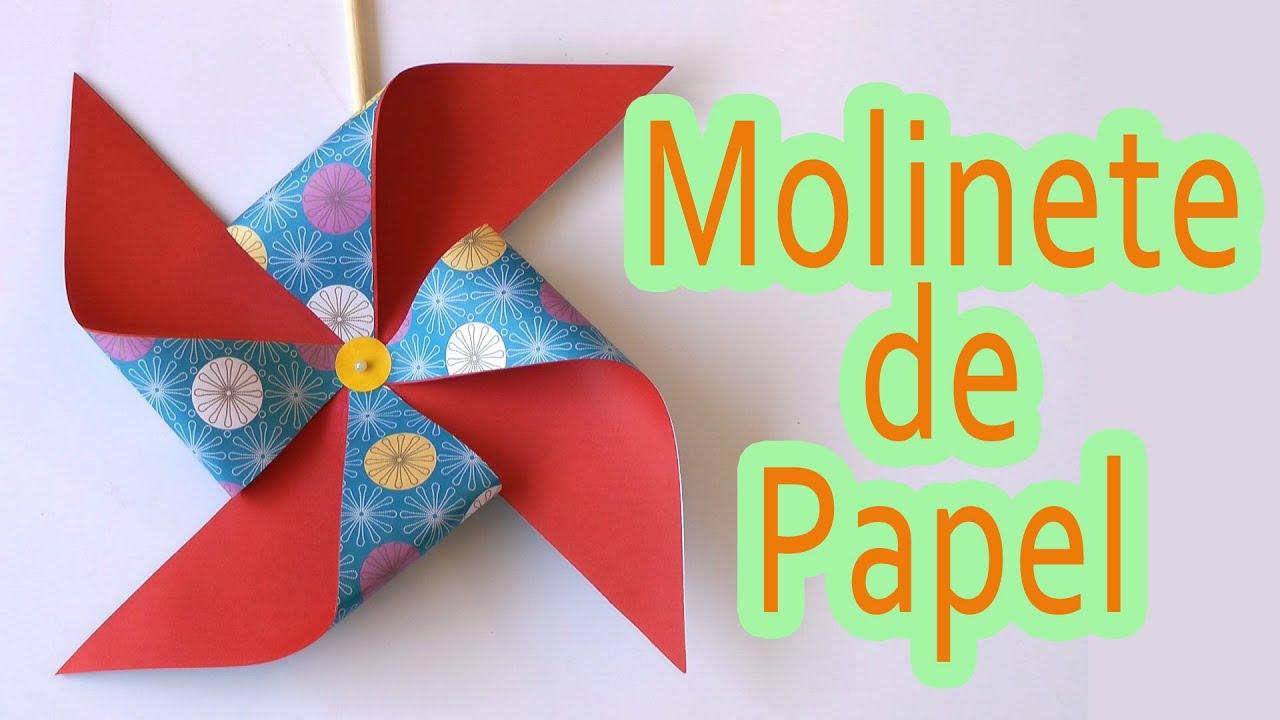 Manualidades molinillo de papel manualidades para todos - Papel decorado para manualidades ...