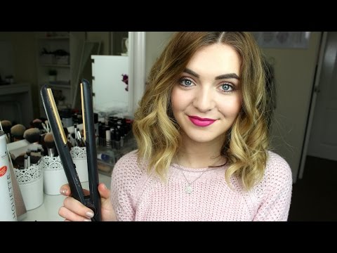 How To Curl Short Medium Length Hair With Straighteners