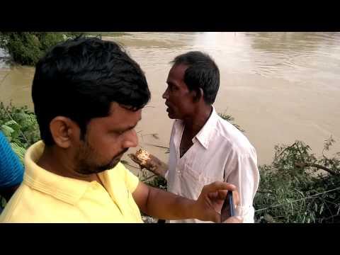 Flood affected and Breakage of Ghatal to Bandar road at Pratapur, Paschim Medinipur
