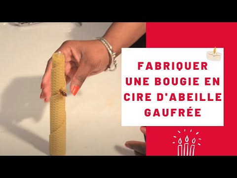 comment fabriquer une bougie en cire d 39 abeille gaufr e youtube. Black Bedroom Furniture Sets. Home Design Ideas
