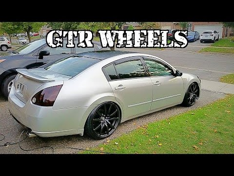 gtr rims on a maxima!!! youtubegtr rims on a maxima!!!