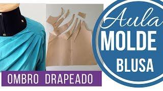 AULA - Molde blusa drapeado no ombro Alana Santos Blogger