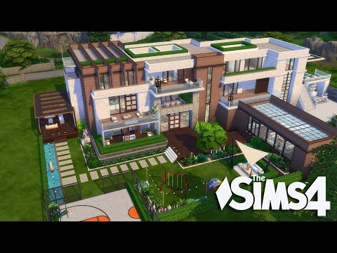 The Sims 4 - Let's Build a Modern Mansion (Part 14) Realtime