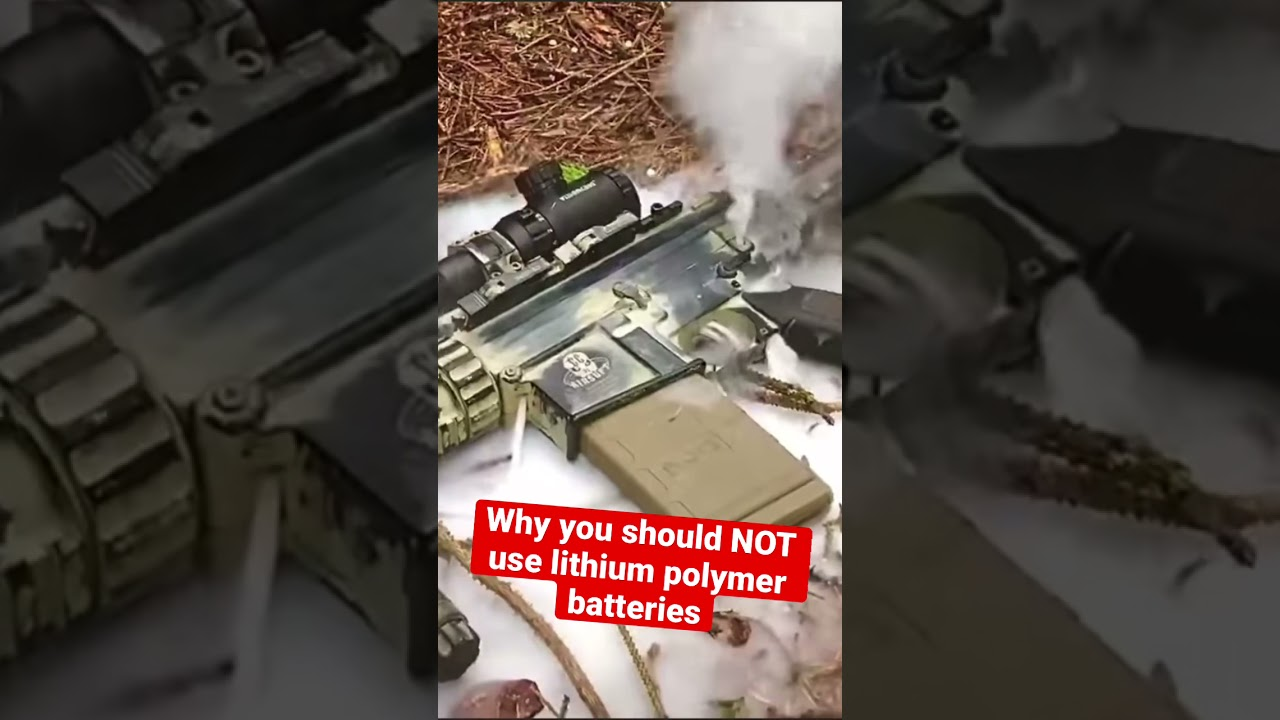 Why you Should NOT use Lithium Polymer Batteries 🔋 #shorts #airsoft