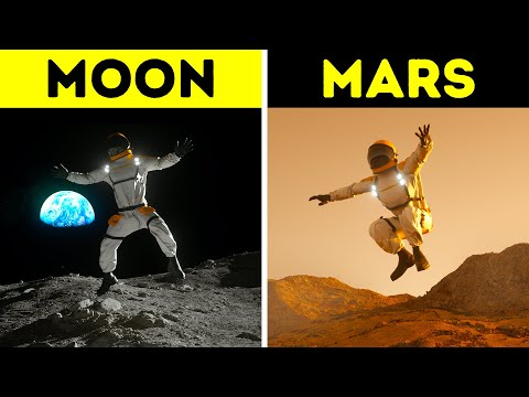 How High You Could Jump on Different Planets in 3D
