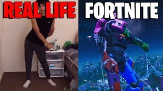 FORTNITE DANCES IN REAL LIFE THAT ARE 100% IN SYNC..! (No Sweat Emote) [Perfect Timing]