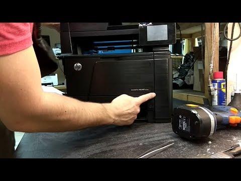 HP LJ Pro 400   Как разобрать   Замена термопленки