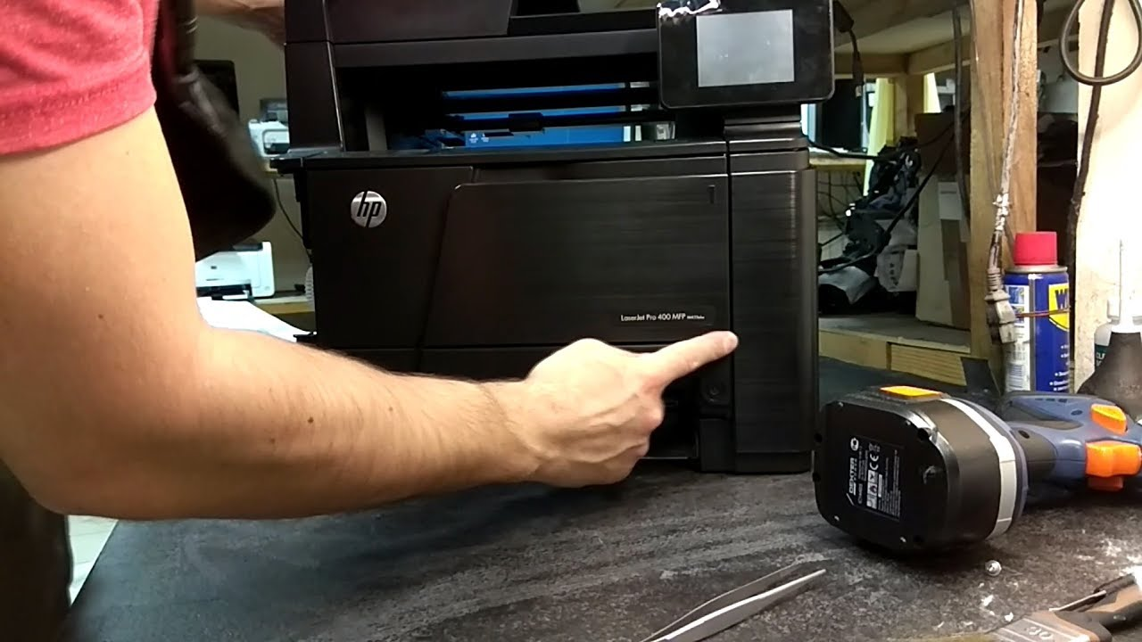 HP LJ Pro 400   How to parse   Replacement of thermo film