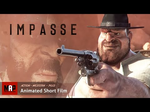 "CGI 3D Animated Short Film ""IMPASSE"" Western Action Animation by James Hall"
