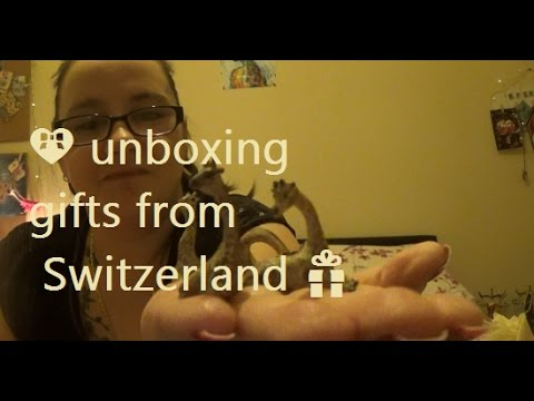 💝 unboxing gifts from Switzerland 💟