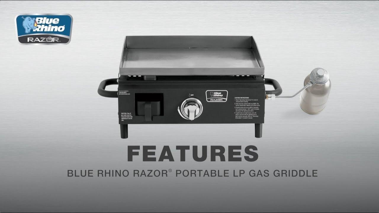 Blue Rhino® Razor® Portable LP Gas Griddle Features Video   Model #GBT1860L