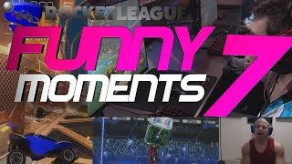 ROCKET LEAGUE FUNNY MOMENTS 7 😆 (FUNNY REACTIONS, FAILS & WINS BY COMMUNITY & PROS!)