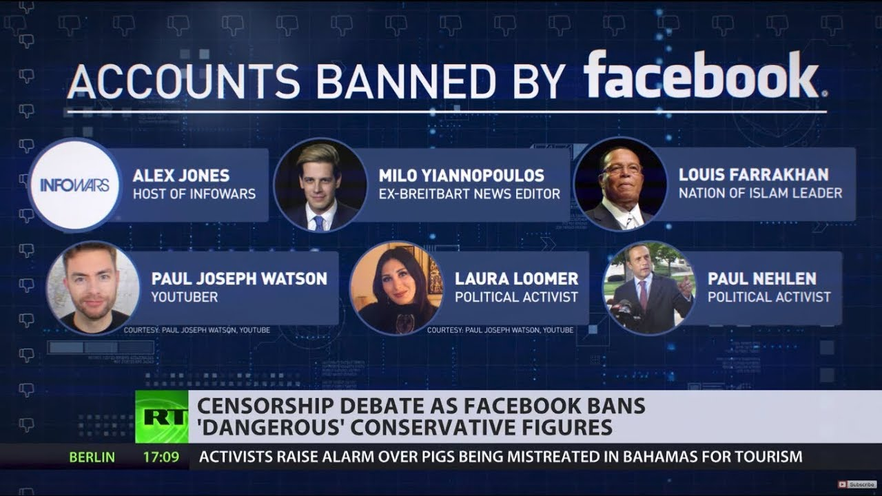 'Political purge': Facebook bans Infowars, Milo Yiannopoulos & others for 'promot