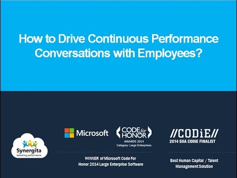 Webinar: How to Drive Continuous Performance Conversations with your Employees?