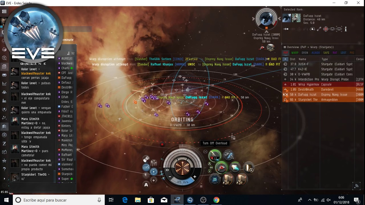 Eve Online Español Pvp Osprey Navy Issue Armageddon Youtube