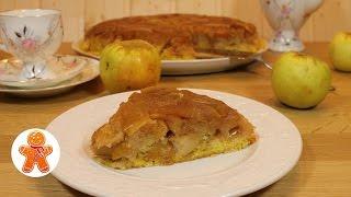 Янтарный яблочный пирог/торт Татьяны Толстой