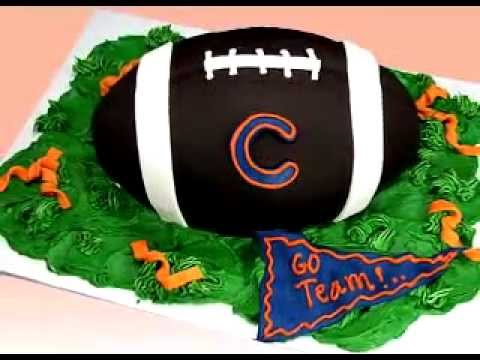 Football Cake Decorating Ideas How To Make : Football Cake How To Decorate NFL Superbowl Football Cake ...