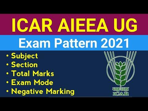 ICAR AIEEA UG Exam Pattern 2021    ICAR Exam Pattern 2021