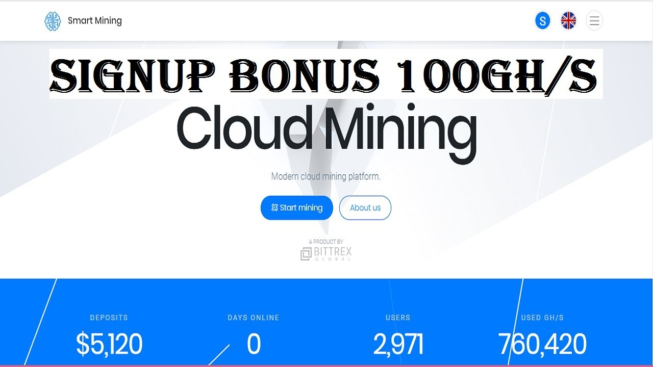 Smartmining New Free Cryptocurrency Cloud Mining Site 2020 Signup Bonus 100gh S Daily Earn 100 Youtube