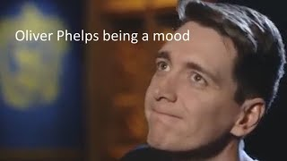 Oliver Phelps being a mood for 3 minutes straight