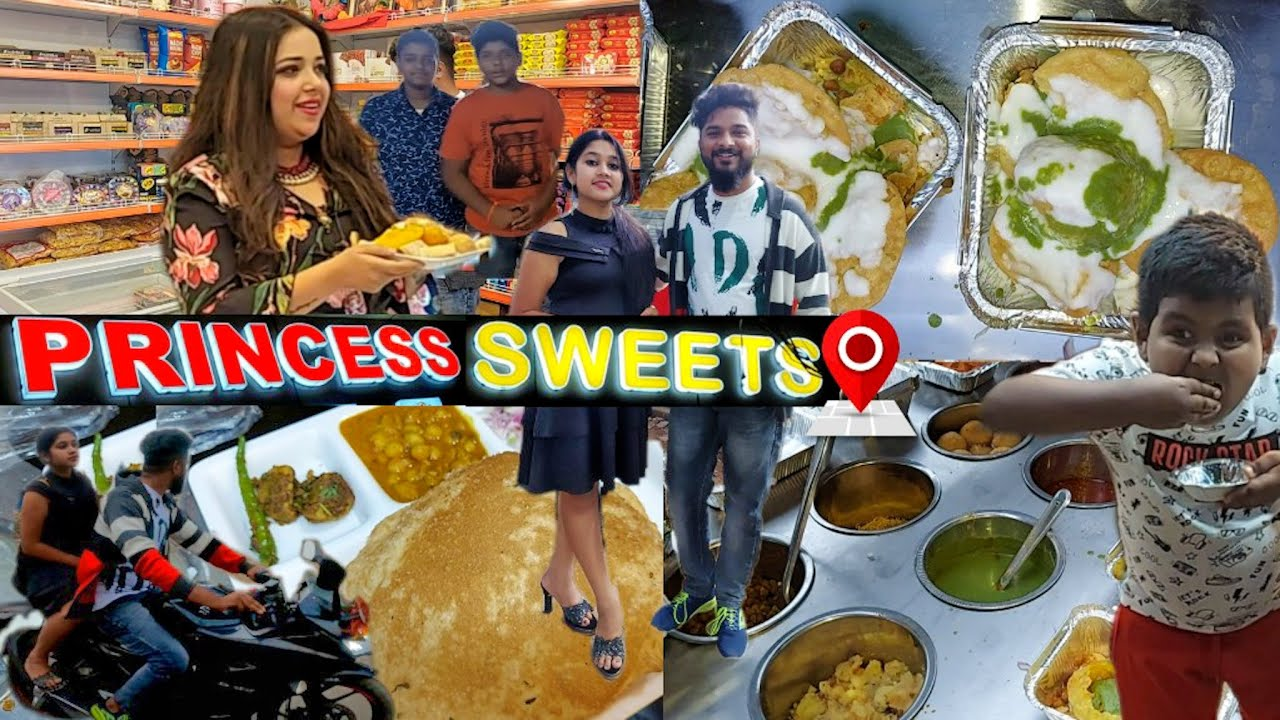 Princess Sweets | She Likes Pani Puri | Best Raj Kachori Chat & Chole Bhature In Jeypore Street Food