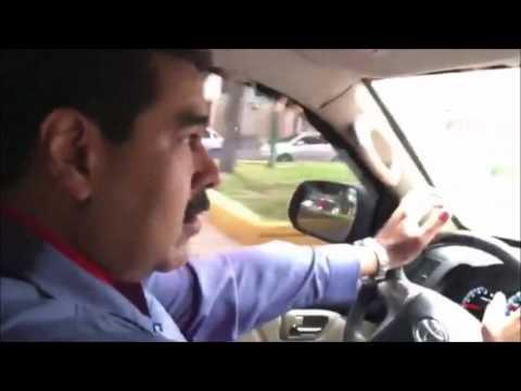 Maduro manejando por Caracas para asegurar que paro fracasó