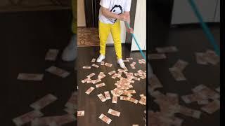 уборка денег у трилл пила дома трэп звезда instagram, Story, инстаграм,сторис