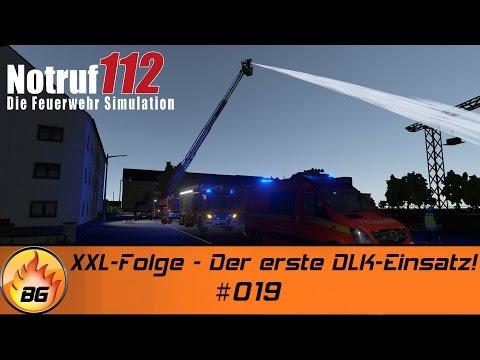 Notruf 112 - Die Feuerwehr Simulation #019   XXL-Folge - Der erste DLK-Einsatz!   Let's Play [HD]
