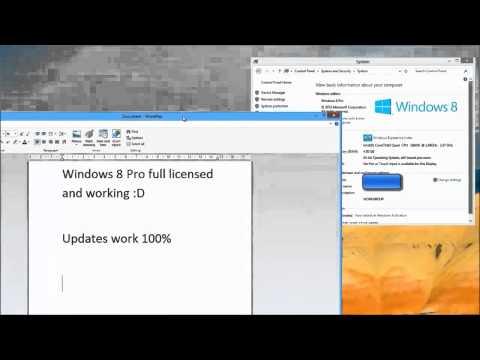 Windows 8 Pro Activation-Crack (32bit & 64Bit)