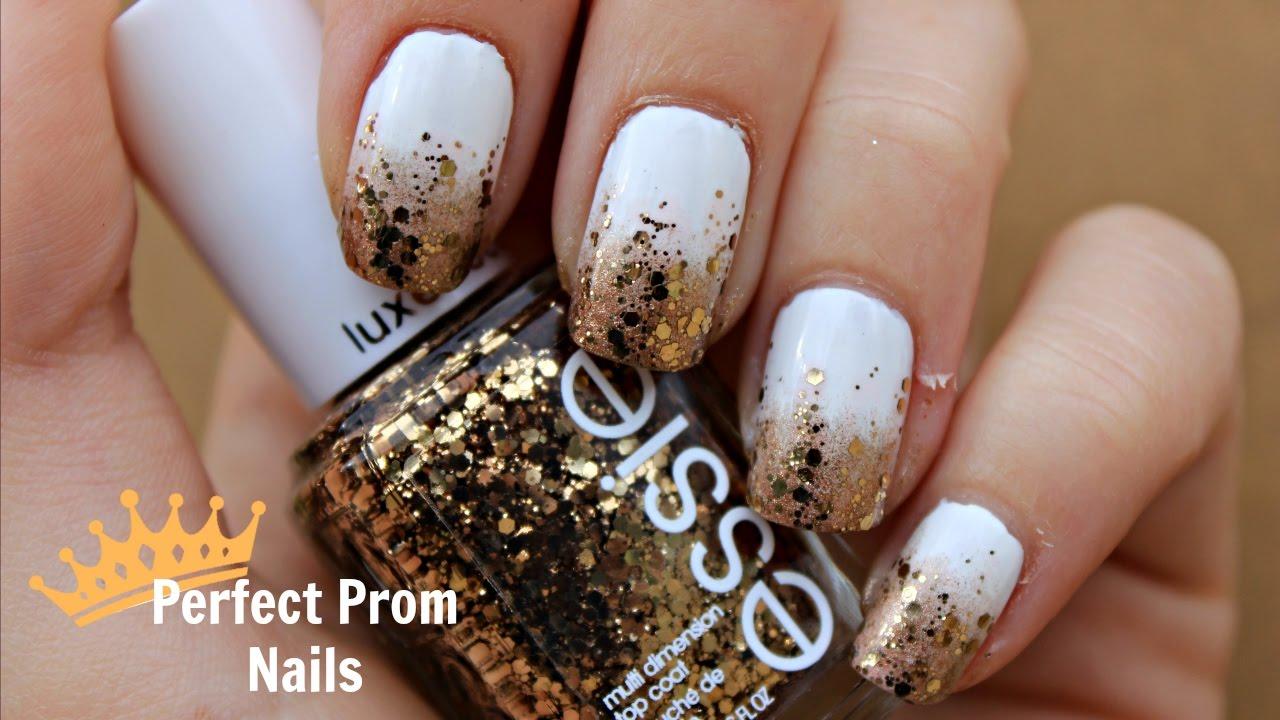 Perfect Prom Nails: White & Gold | Princess & the Polish ...