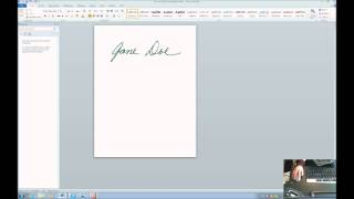 Accessibility-How to make your signature Electronic and insert it into a Document