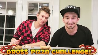 Disgusting DOG FOOD Pizza Challenge (Mystery Food)