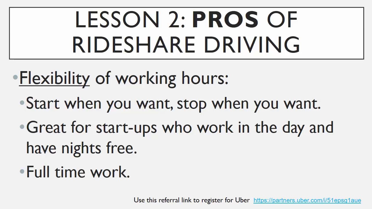 Ultimate Uber Driver Training Course: Lesson 2 - Pros & Cons of Rideshare  Driving