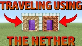 HOW TO LINK NETHER PORTALS - TIPS AND TRICKS - MINECRAFT PS4 1.14