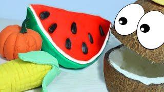 Развивающая Песенка про Пальчики Учим названия Овощей с Мистером Кокосом Овощи из Плей До